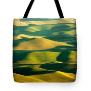Green And Gold Acres Tote Bag