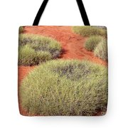 Green On Rusty Red Tote Bag