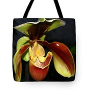 Green And Red Orchid Tote Bag