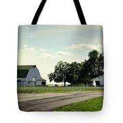 Green And White Farm Tote Bag