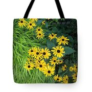 Green And Yellow Burst Tote Bag