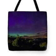 Green Aurora Curtain Tote Bag