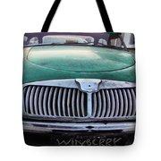Green Austin Healey In Drive Tote Bag