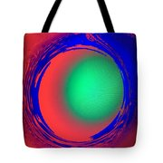 Green Ball In Red Funnel  Tote Bag