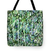 Green Bamboo Tree In A Garden Tote Bag