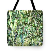 Green Bamboo Tree Tote Bag