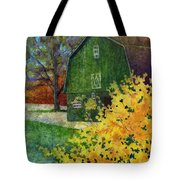 Green Barn Tote Bag