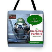 Green Bay Packers Tote Bag by Kathy Tarochione