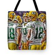 Green Bay Packers Team Art 2 Tote Bag