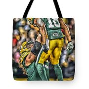 Green Bay Packers Team Art Tote Bag