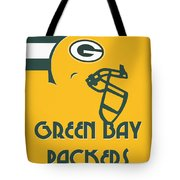Green Bay Packers Team Vintage Art Tote Bag