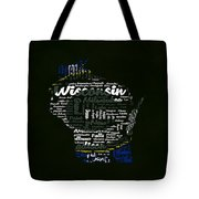 Green Bay Packers Typographic Word Art Tote Bag