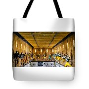 Green Bay Packers Uniforms Then And Now Tote Bag