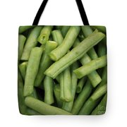 Green Beans Close-up Tote Bag