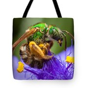 Green Bee Macro Tote Bag