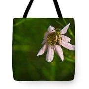 Green Bee Searches For Pollen Tote Bag