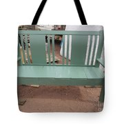 Green Bench Tote Bag