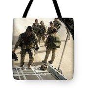 Green Berets Board A C-130h3 Hercules Tote Bag