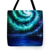 Green-blue Galaxy And Ocean. Planet Dzekhtsaghee Tote Bag