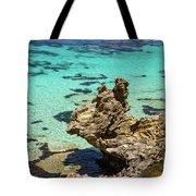 Green Blue Ocean Water And Rocks Tote Bag