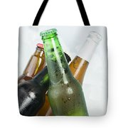 Green Bottle Of Beer Tote Bag by Deyan Georgiev