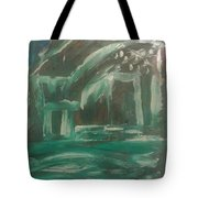 Green Cabin Tote Bag by Gregory Dallum