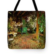 Green Chair Tote Bag