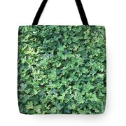 Green Clovers Tote Bag
