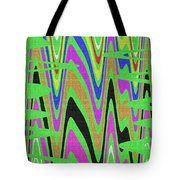 Green Color Abstract #140 Tote Bag