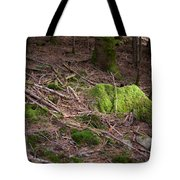 Green Covered Rock Tote Bag