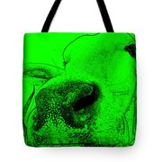 Green Cow Tote Bag