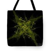 Green Crosshatch Scribble  Tote Bag