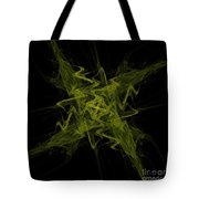 Green Crosshatch Scribble  Tote Bag
