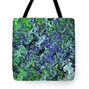 Green Crystal Digital Abstract Tote Bag