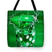 Green Dice Splash Tote Bag