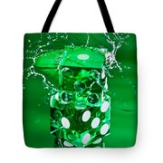 Green Dice Splash Tote Bag