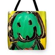 Green Dog Tote Bag