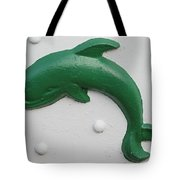 Green Dolphin Tote Bag