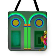 Green Doors Tote Bag