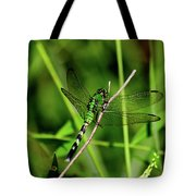 Green Dragonfly Tote Bag