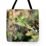 Green Dragonfly Macro Tote Bag