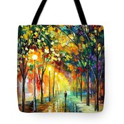 Green Dreams - Palette Knife Oil Painting On Canvas By Leonid Afremov Tote Bag