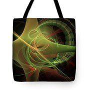 Green Energy Tunnel Tote Bag