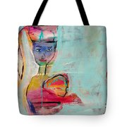 Green Eyed Bird Tote Bag