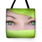 Green-eyed Girl Tote Bag