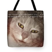 Green Eyed Glare Quote Tote Bag