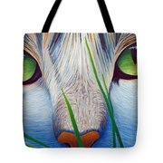 Green Eyes Tote Bag by Brian  Commerford