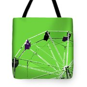 Green Ferris Wheel Tote Bag