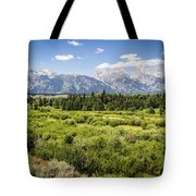 Green Field Tote Bag