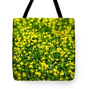 Green Field Of Yellow Flowers 2 1 Tote Bag